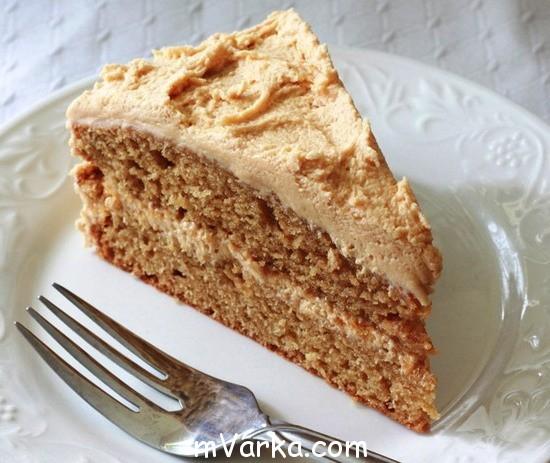 Торт с ореховой пастой без выпечки