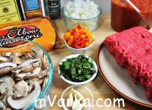 Рожки с куриным фаршем и перцем чили в соусе болоньезе - рецепт пошаговый с фото